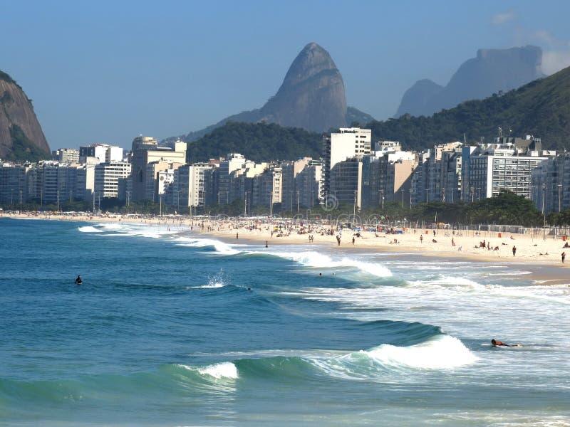 Praia de Copacabana imagem de stock royalty free