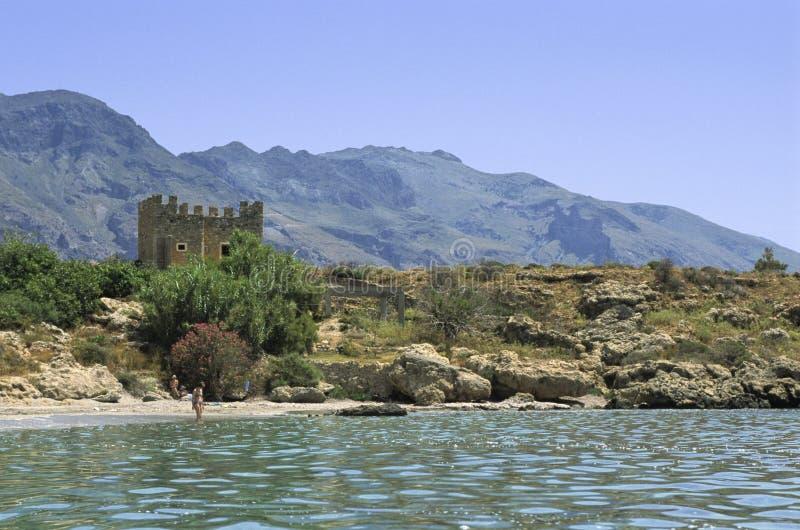 Praia de Crete imagens de stock royalty free