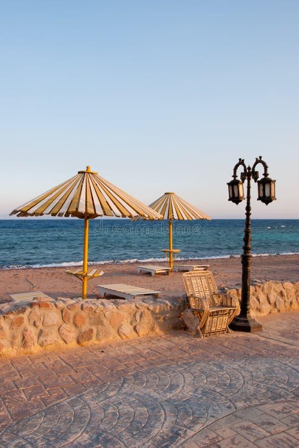 Praia de Dahab imagem de stock royalty free