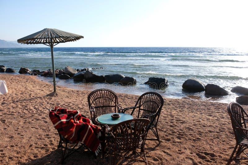 Praia de Dahab no Mar Vermelho, Sinai fotografia de stock