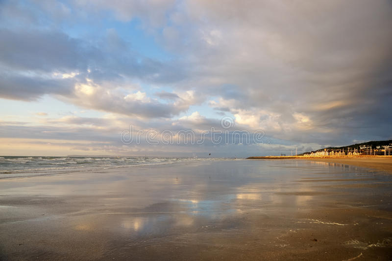 Praia de Deauville fotos de stock