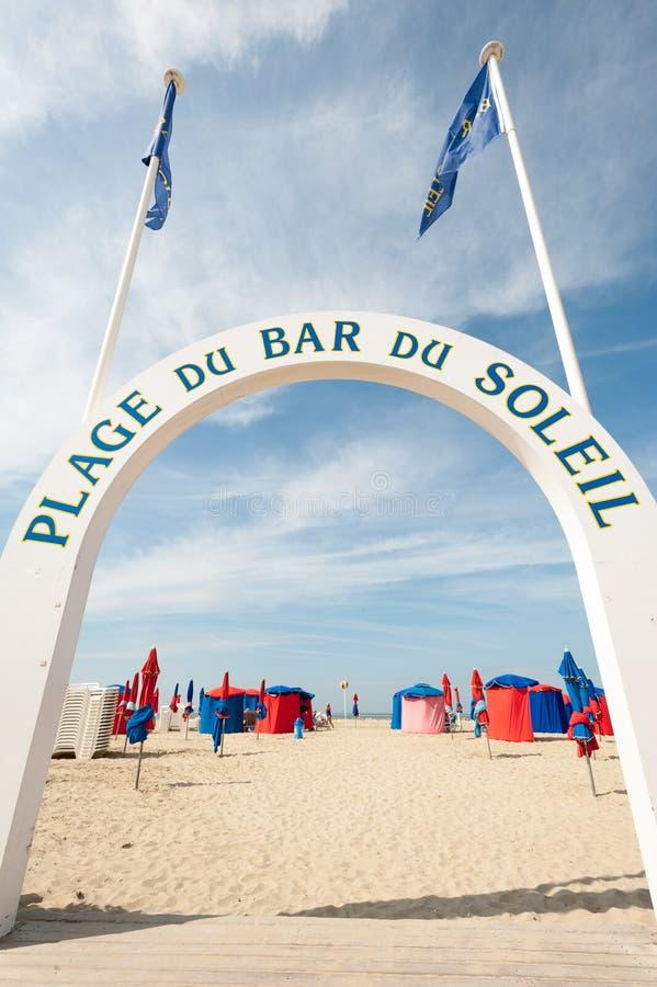 Praia de Deauville fotografia de stock royalty free