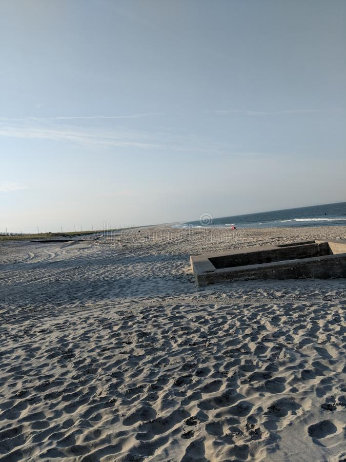 Praia de Delaware fotografia de stock