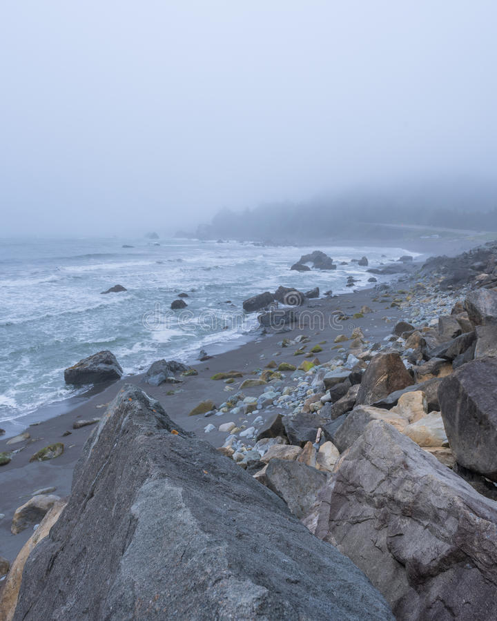 Praia de DeMartin fotografia de stock