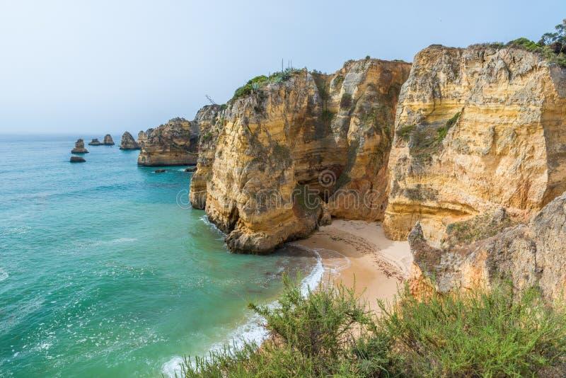 Praia de Dona Ana - όμορφη παραλία του Αλγκάρβε, Πορτογαλία στοκ εικόνα με δικαίωμα ελεύθερης χρήσης