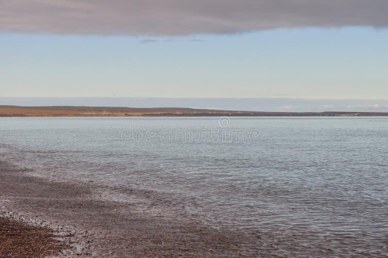 Praia de Doradillo em Puerto Madryn fotos de stock royalty free