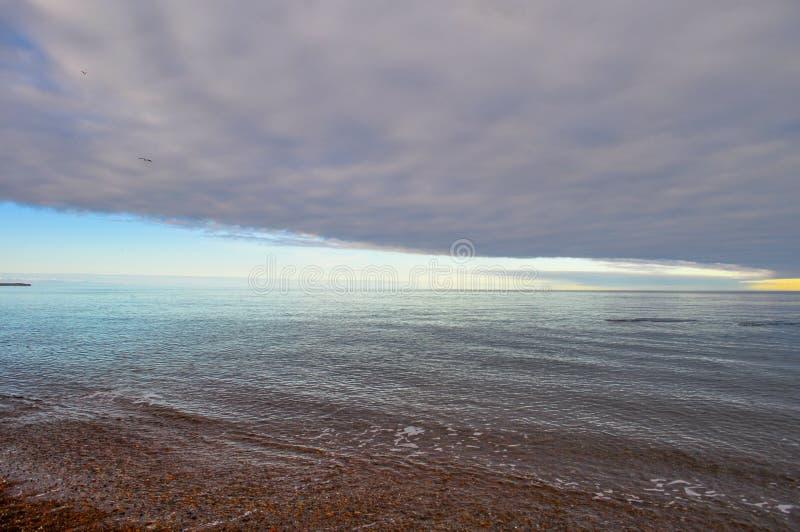 Praia de Doradillo em Puerto Madryn, Chubut fotografia de stock royalty free