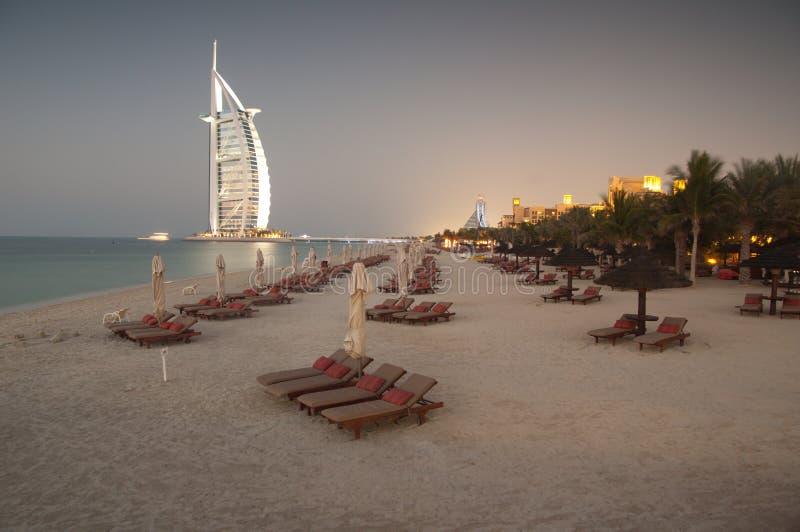 Praia de Dubai, UAE foto de stock