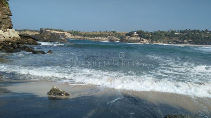 Praia de East Java Indonésia fotos de stock