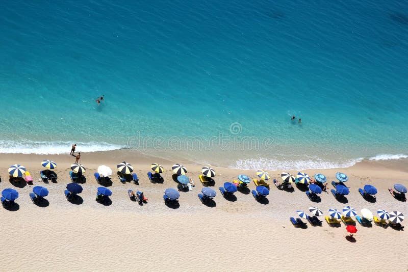 Praia de Egremni, ilha de Lefkada fotos de stock royalty free