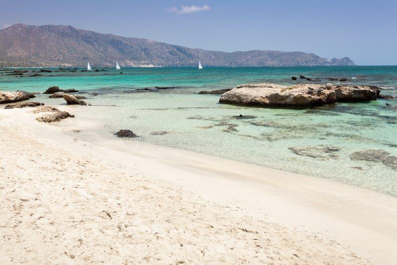 Praia de Elafonisi (Crete, Greece) fotos de stock