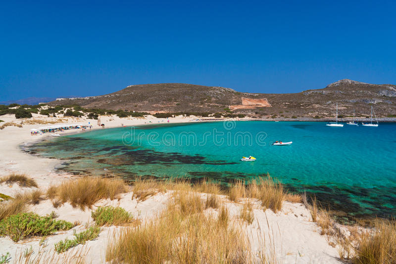 Praia de Elafonissos fotografia de stock