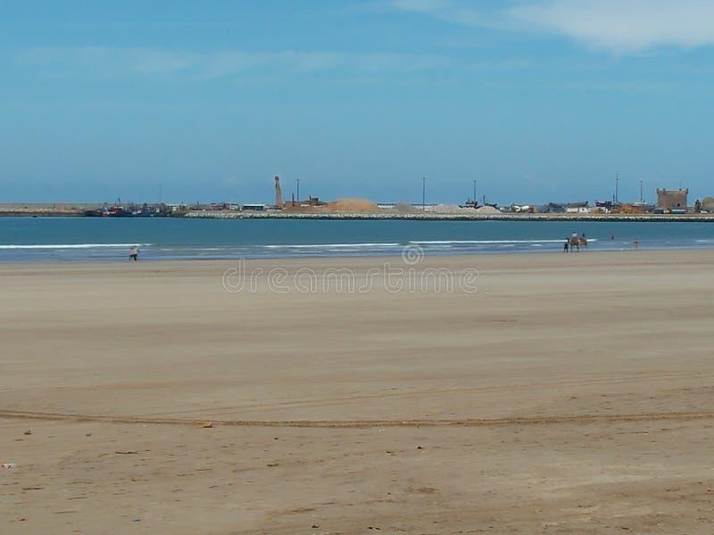Praia de Essaouira imagens de stock
