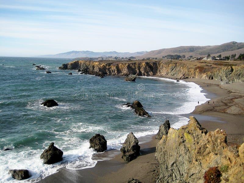 Praia de estado da costa de Sonoma & x28; California& x29; fotografia de stock royalty free
