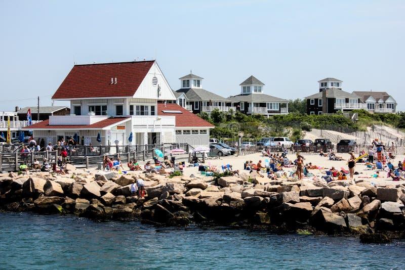 Praia de estado salgado da salmoura, Narragansett, RI fotografia de stock royalty free