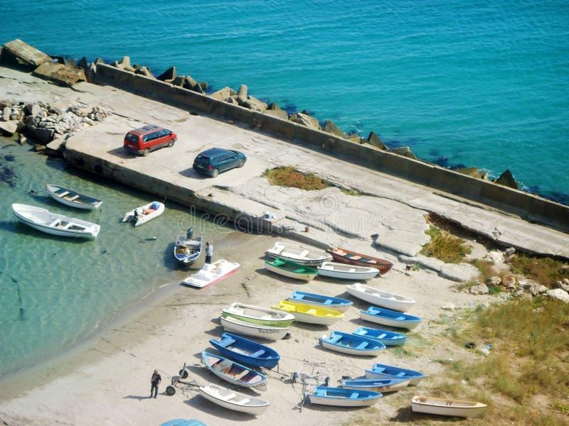 A praia de Ezerets e de lago Shabla em Bulgária fotos de stock