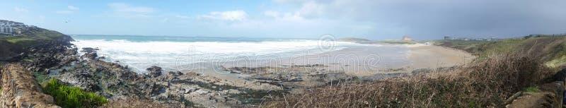 Praia de Fistral Newquay cornwall foto de stock royalty free