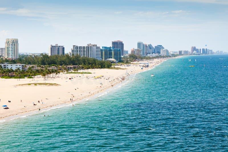 Praia de Fort Lauderdale, Ft. Lauderdale, Florida fotos de stock