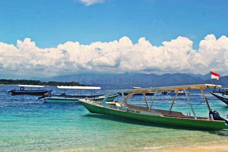 A praia de Gilitrawangan fotos de stock royalty free