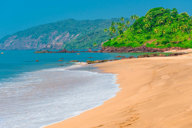 Praia de Goa imagem de stock royalty free
