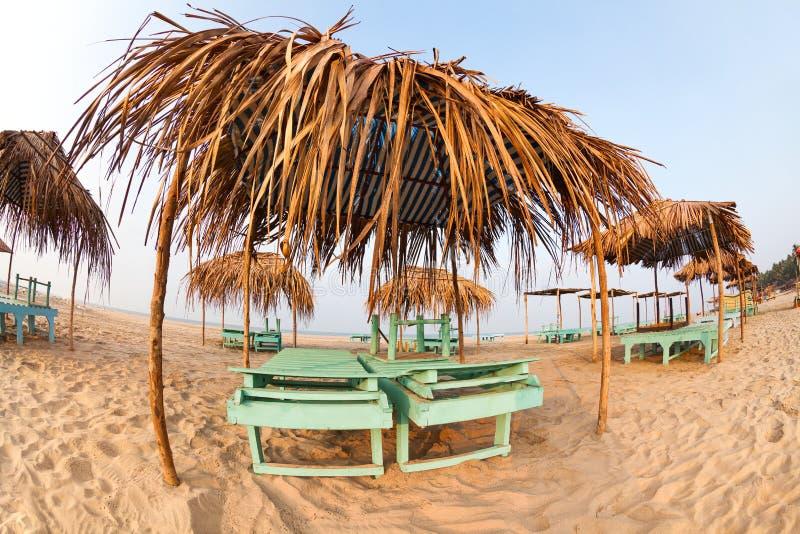 Praia de Goa imagem de stock