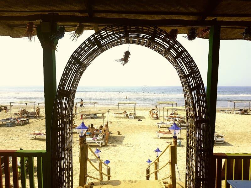 Praia de Goa fotografia de stock
