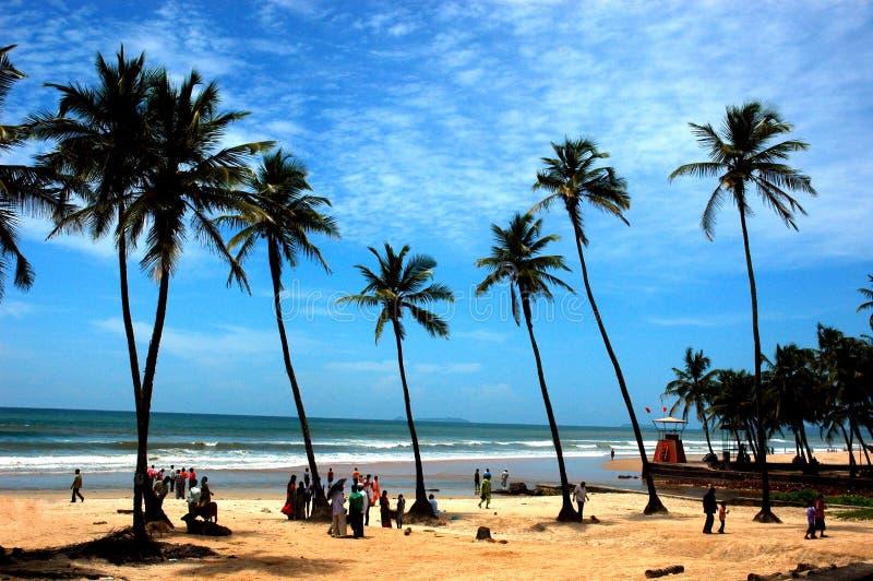 A praia de Goa-India. fotos de stock