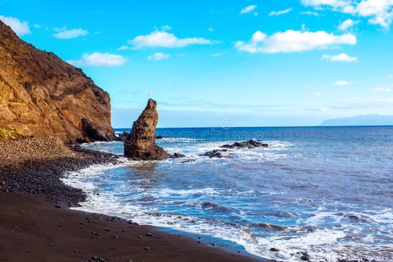 Praia de Gomera do La fotografia de stock royalty free