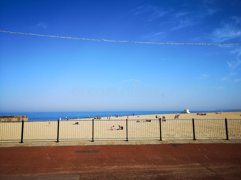 Praia de Gorleston foto de stock royalty free