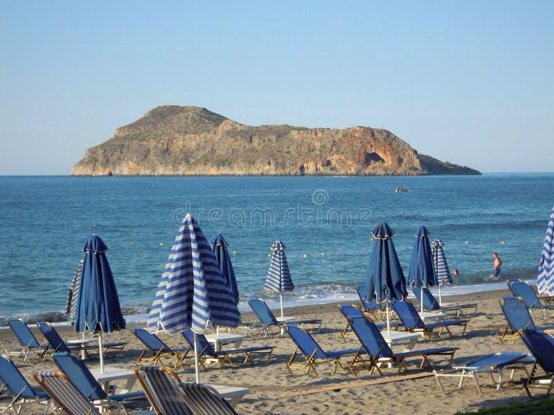 Praia de Grécia imagem de stock