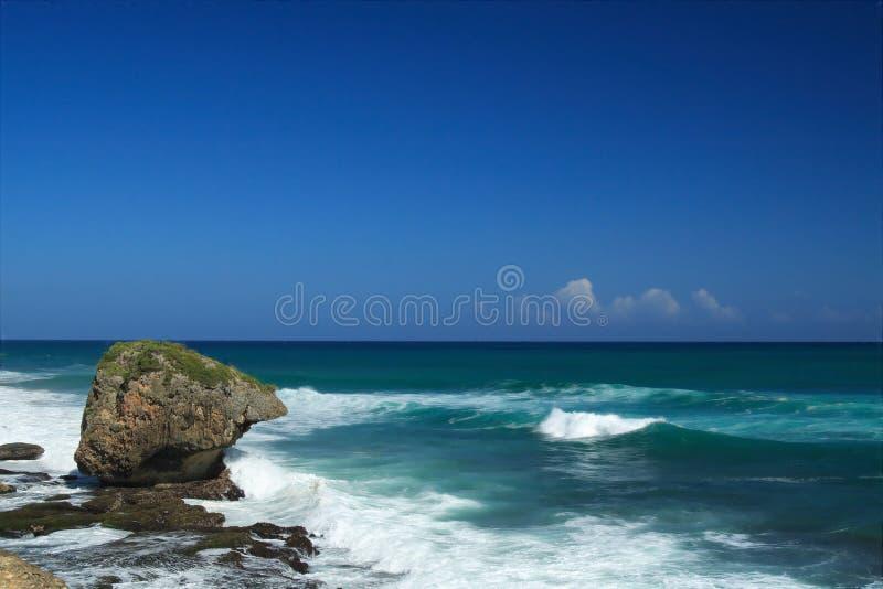 Praia de Guajatake em Puerto Rico imagem de stock