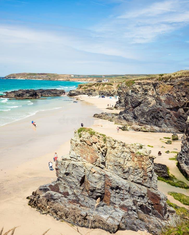 Praia de Gwithian perto de Hayle em Cornualha imagens de stock royalty free