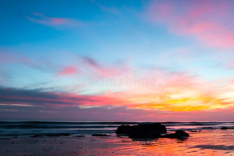 A praia de Handry do por do sol fotografia de stock