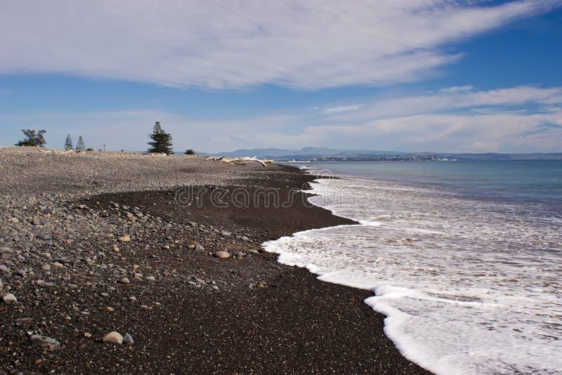 Praia de Haumoana foto de stock