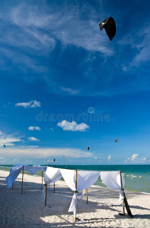 Praia de Hua Hin, Tailândia. imagem de stock royalty free