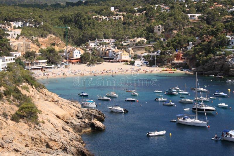 Praia de Ibiza fotografia de stock