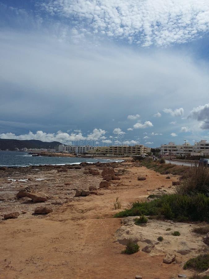 Praia de Ibiza imagens de stock
