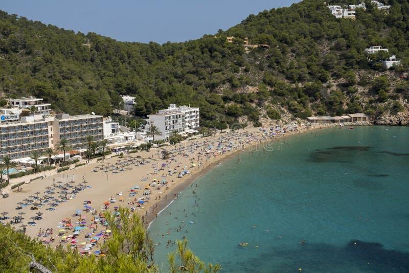 Praia de Ibiza, Espanha imagens de stock