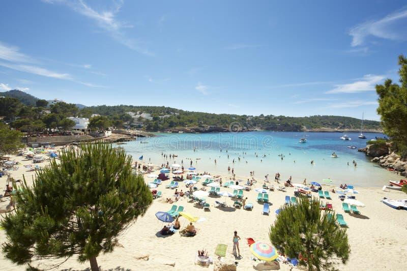 Praia de Ibiza no verão fotos de stock