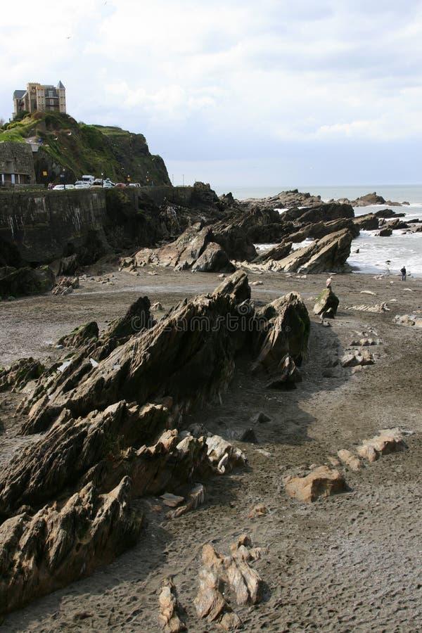 Praia de Ilfracombe imagem de stock