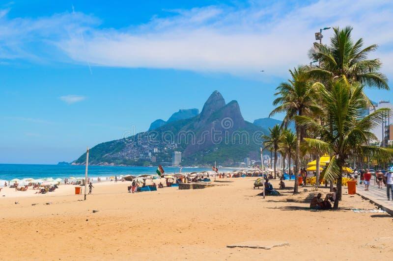 Praia de Ipanema em Rio de Janeiro foto de stock