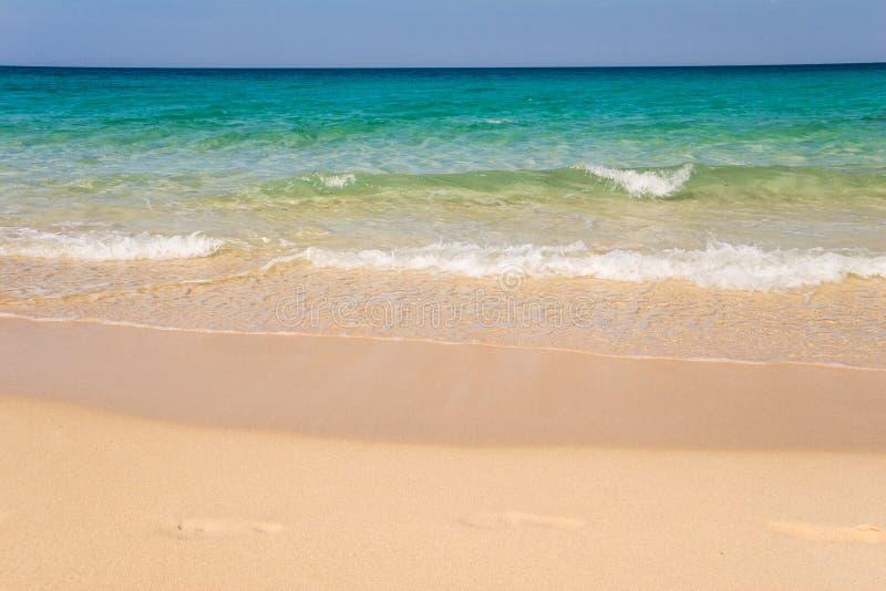 Praia de Jandia, Morro Jable, Fuerteventura, Ilhas Canárias, fotos de stock royalty free