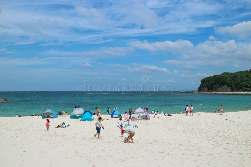 Praia de Japão Shirarahama foto de stock