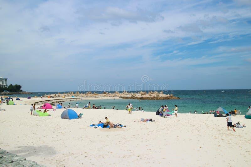 Praia de Japão Shirarahama imagens de stock