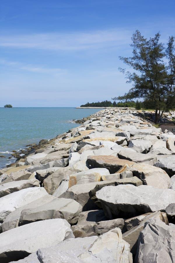 Praia de Jerudong, Brunei fotografia de stock royalty free