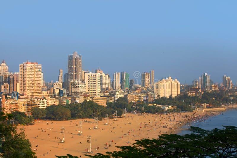 Praia de Juhu imagens de stock