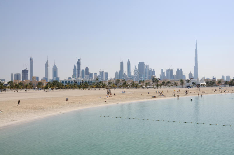 Praia de Jumeirah em Dubai imagens de stock royalty free