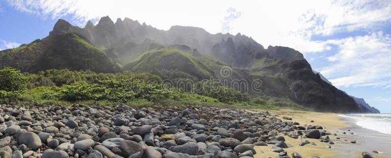 Praia de Kalalau fotos de stock