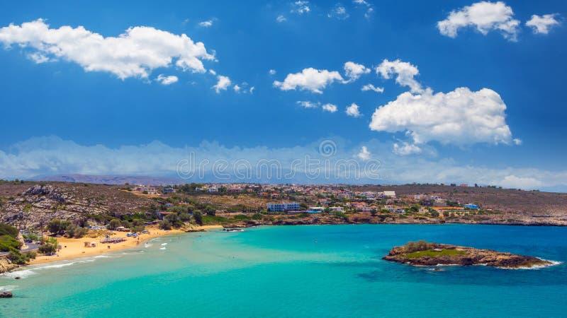 Praia de Kalathas, ilha da Creta, Grécia foto de stock