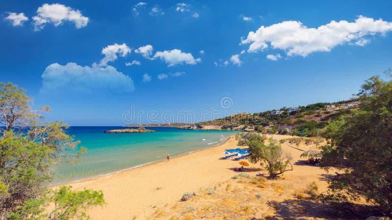 Praia de Kalathas, ilha da Creta, Grécia foto de stock royalty free